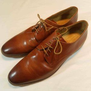 Cole Haan Mens Oxfords Shoes Caramel Brown Lace Up